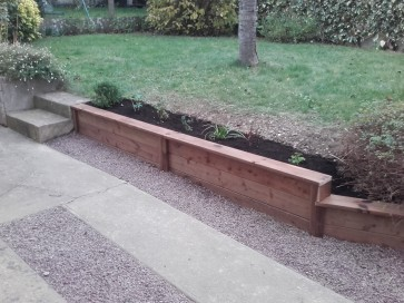 Mur de soutènement en bois